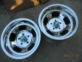 JUST POLISHED 15x8.5 INDY SLOT MAG WHEELS CHEVELLE CAMARO MAGS GASSER