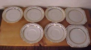 Lot of 7 Roslyn Fine Bone China Dishes England