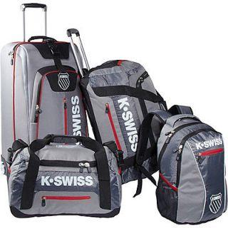 SWISS Tech Sport Luggage Set   Grey and Black