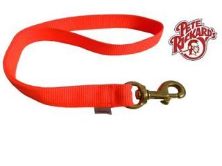 RICKARD   NEW 1 x 18 DOUBLE PLY NYLON ORANGE DOG TRAINING LEAD LEASH