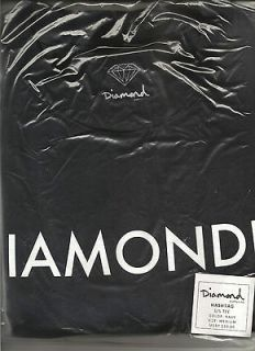 Diamond Supply Co. Hashtag, ss tee, Navy, size Medium