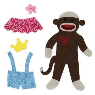 Sizzix   Bigz Pro Die   Quilting   Die Cutting Template   Sock Monkey