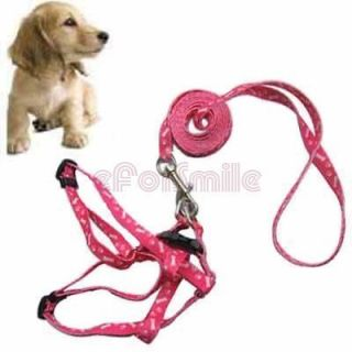 Pet Fits Small Dog Lead Leash harness Pulling Harness Leash Rope NEW