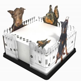 Doberman Pinscher Dog Breed Acrylic Note Holder Memo Note Pad Made in
