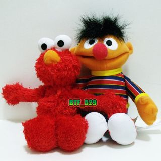 Plush Elmo and Ernie   New Sesame Street Plush Doll Figure
