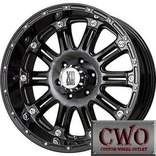 17 Black XD Series Hoss Wheels Rims 8x165.1 8 Lug Chevy GMC Dodge 2500