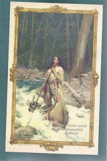 Dowagiac,MI Beckwith Round Oak Stove,Doe Wah  Jack Indian Canoe