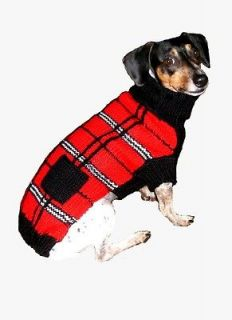 Dog Clothes Pet Sweater Scottish Plaid XXS thru XL Chihuahua Yorkie