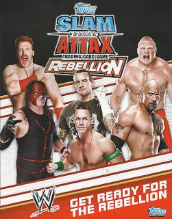 TOPPS WWE Slam Attax REBELLION TITLE FOIL TRADING CARD  See Which