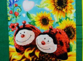 Pets Soft Book Fabric Panel Unicorn Ladybug Bee Panda Bear Dog Toys