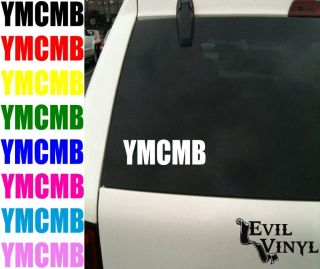 Car Window Decal Young Money Cash Lil Wayne Drake Nicki Rap ANY SIZE