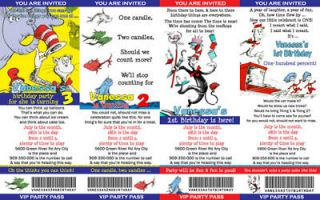 DR SEUSS CAT IN THE HAT BIRTHDAY PARTY INVITATIONS
