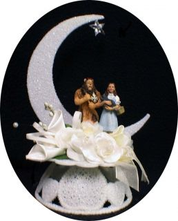 Cowardly Lion & DOROTHY Wizard of Oz TOTO Wedding Cake Topper Groom
