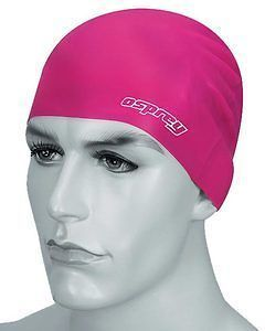 SWIM RUBBER LATEX POOL WATERPROOF PINK CAP SWIMMING HAT UNISEX