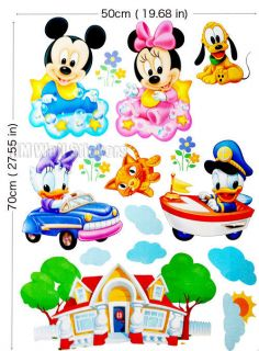 BABY MICKEY & MINNIE; DAISY & DONALD DUCK Kids wall stickers for