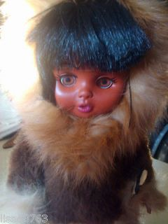 Vintage Eskimo Indian Carlson Doll Fur Trim Soft Leather Leggings 11 1