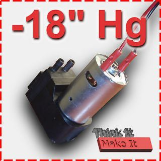 18Hg 12V DC VACUUM PUMP → Hobby/Lab Projects (Wet or Dry)