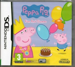 PEPPA PIG FUN AND GAMES GAME DS DSi Lite 3DS ~ NEW / SEALED