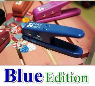 PickMan ] Guitar Pick Make Hand Held Punch Plectrum Cutter BLUE