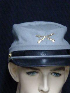 Civil War Rebel Confederate WOOL Kepi Forage cap hat sizes 56 60
