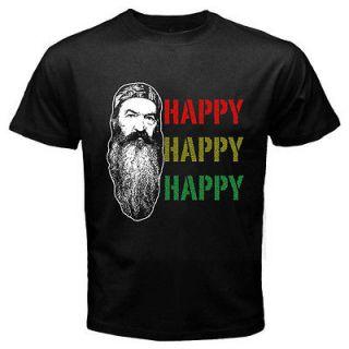 NEW HAPPY DUCK DYNASTY BLACK T SHIRT SIZE S   3XL