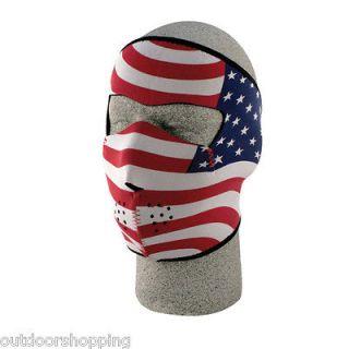 USA Flag NEOPRENE COLD WEATHER FULL FACE MASK   Skiing/Biking