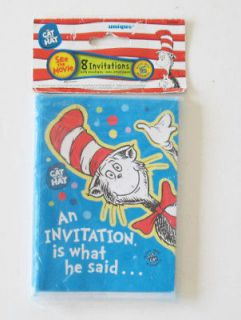 Dr. SeussThe Cat in the Hat Party Invitations   NIP