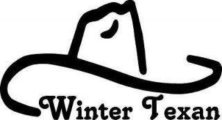winter texan cowboy hat VINYL DECAL STICKER 343 2