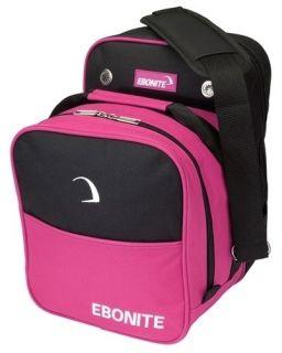 Ebonite Compact Single Pink/Black 1 Ball Bowling Bag