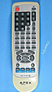 APEX DVD PLAYER REMOTE CONTROL RM 1010W AD 1110W AD 1130 AD 1130W
