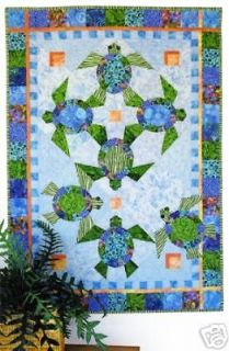 Newly listed ~ NEW QUILT PATTERN ~ BEAUTIFUL 40X56 DANCING TURTLES~