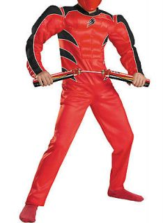 Boys Red Ranger Halloween Costume Large 10 12 SUIT ONLY Jungle Fury