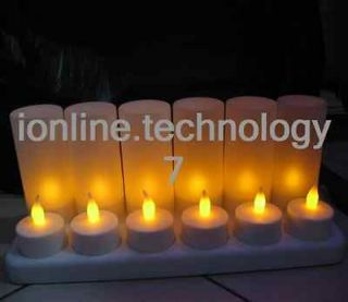 LED Rechargeable Flameless Tea Light Candles No batteries replacement