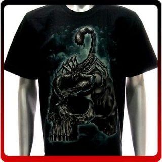 r113 Rock Eagle T shirt Sz 2XL XXL Tattoo Skull Glow in Dark Scorpion