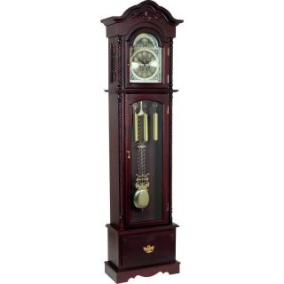 Edward Meyer™ Grandfather Clock with Beveled Glass 31 Day Movement
