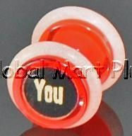 Fake Ear Plug~Earring~F  ck You~F Word~The Finger~Rubber O Rings~UV