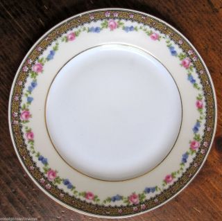 Bread Dish Plate Edelstein Bavaria Pink Roses Fine China Numbered