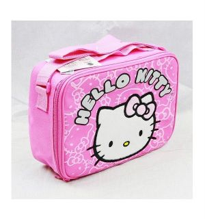 NWT Sanrio Hello Kitty Insulated Lunch Box Bag Snack Box with