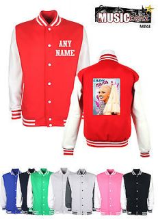 lady gaga koolart personalised Varsity Letterman baseball Jacket