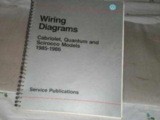VW WIRING DIAGRAMS,CABRI OLET,QUANTUM, SCIROCCO 1985 86