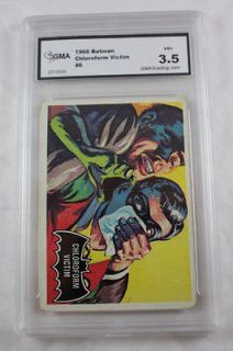 Chloroform Victim 1966 Topps Batman Vintage Black Bat Graded 3.5 VG+