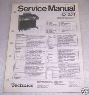 TECHNICS SX E22/L ELECTRONIC ORGAN SERVICE MANUAL