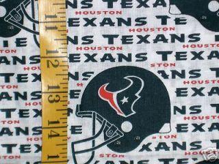 NFL HOUSTON TEXANS 100% COTTON FABRIC FAT QUARTER 18X29 INCHES