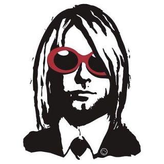 Kurt Cobain Sunglasses Logo Sticker Nirvana Eddie Vedder Pearl Jam