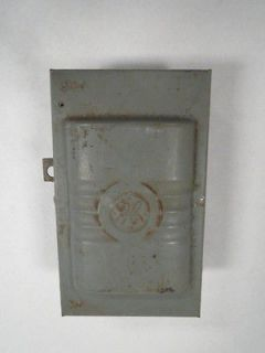 GENERAL ELECTRIC GE TC23311 KNIFE SWITCH BOX 30A AMP 3SN POLE 250V