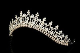 Gold Bridal Pageant Rhinestones Crystal Wedding Tiara Crown 8183