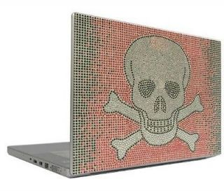 Skull 10 Crystal Rhinestone Bling Laptop Sticker Sheet Cover Skin