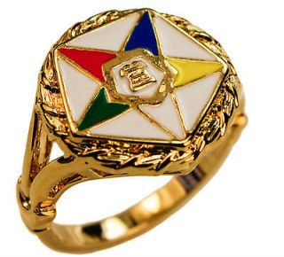 Order of the Eastern Star Ring OES 18K gold overlay size 11