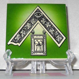 Masonic Past Master Jewel Ceramic Tile HQ Freemasonry Masonry