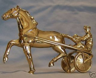 GOLD PLATED CART / SULKY RACER CAR BONNET MASCOT